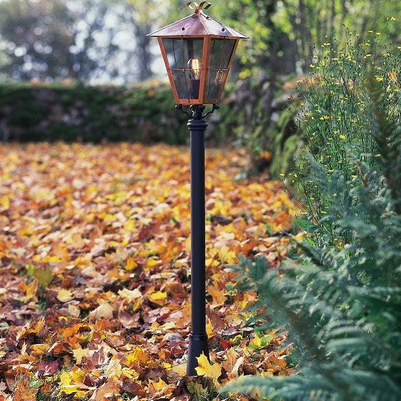 Trädgårdslykta Fenix E27 koppar ex stolpe-15520