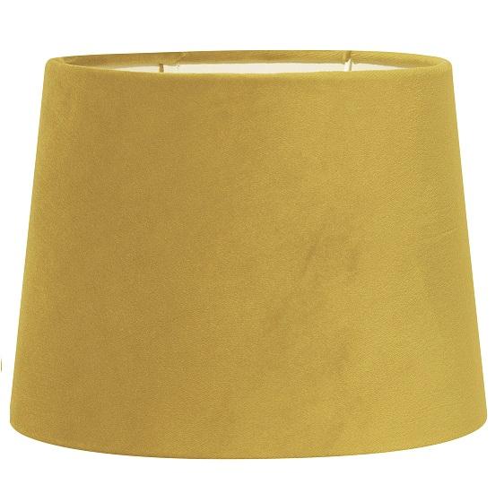 Lampskärm Sofia sammet gul 35 cm-0