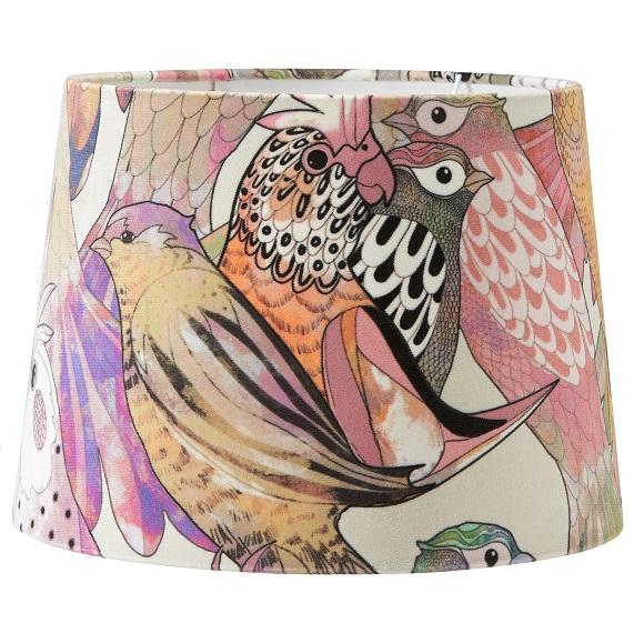 Lampskärm Sofia mönstrad Bird 35 cm-0