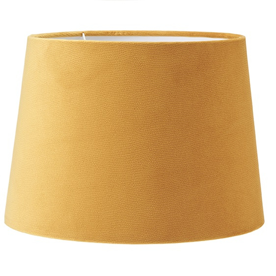 Lampskärm Sofia sammet Studio gul 35 cm-0