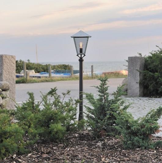 Trädgårdslykta Benu E26 galv inkl stolpe-15532