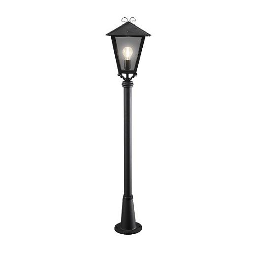Trädgårdslykta Benu E27 svart ink stolpe-0
