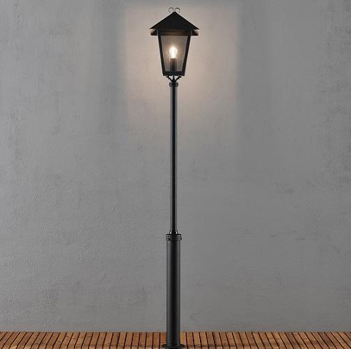 Stolplykta Benu E27 svart inkl stolpe-15538