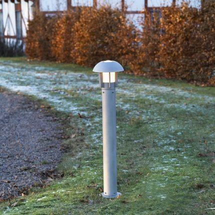 Trädgårdslykta Heimdal E27 grå-12604