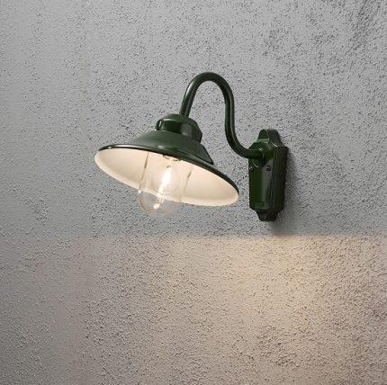 Vägglykta Vega E27 grön-12736