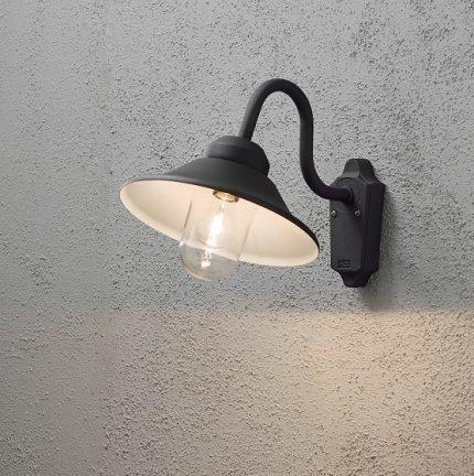 Vega vägglykta E27 svart-12079