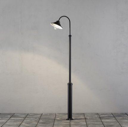 Lykta Vega LED svart ink stolpe-12744