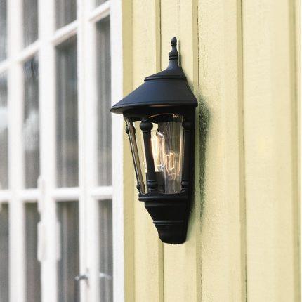 Väggplafond Virgo E27 svart-12786