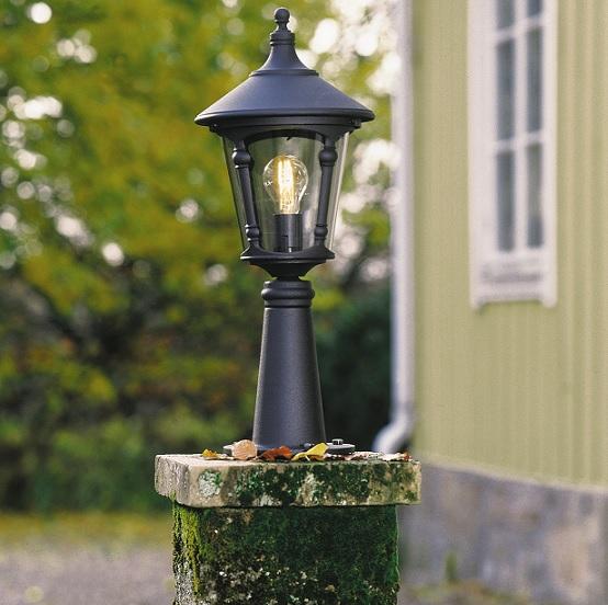 Trädgårdslykta Virgo E27 ex stolpe-12873