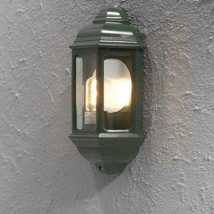 Väggplafond Cagliari E27 grön-12982