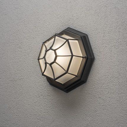 Väggplafond E27 svart-13001