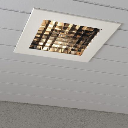 Infälld belysning E27 vit-13009