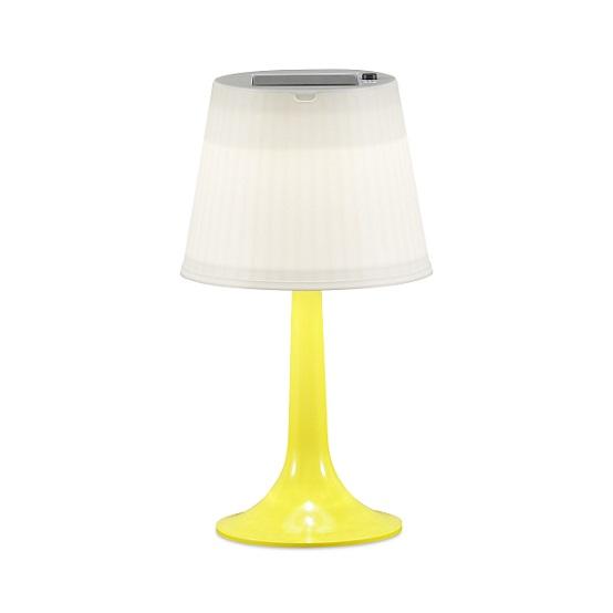 Solcell bordslampa Assisi LED gul-0