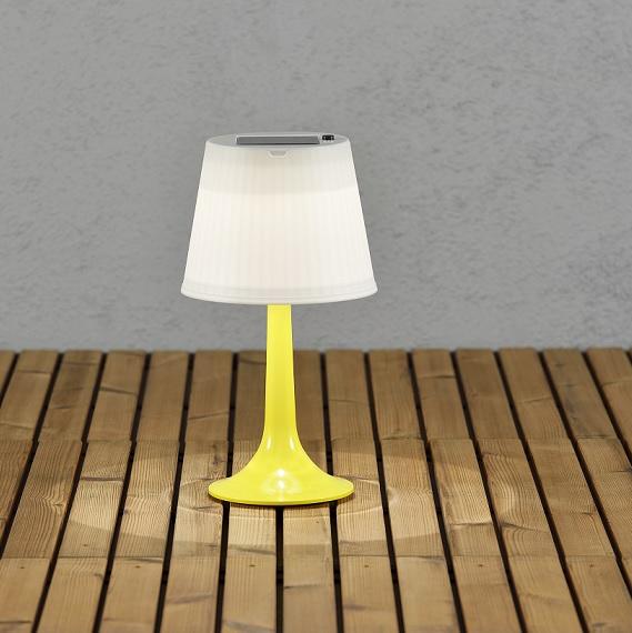 Solcell bordslampa Assisi LED gul-13037