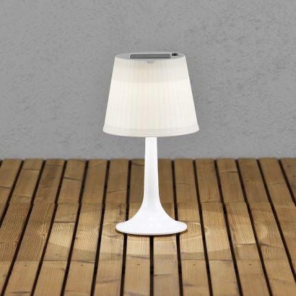 Solcell bordslampa Assisi LED vit-13041