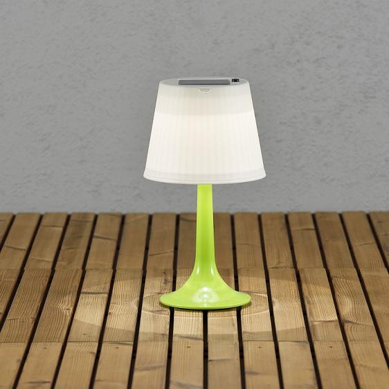 Solcell bordslampa Assisi LED grön-13045