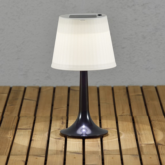 Solcell bordslampa Assisi LED svart-13049