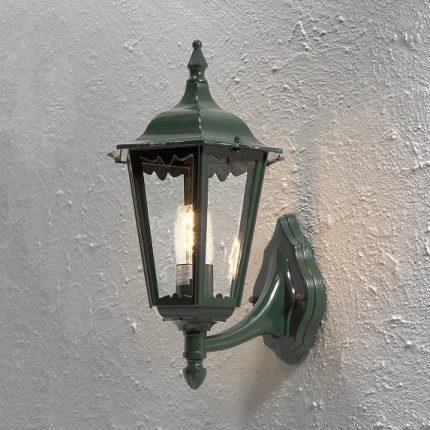 Vägglykta Firenze upp E27 grön-13068