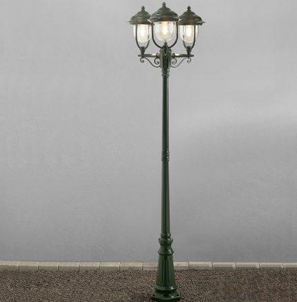 Stolplykta Parma 3-arm grön-13151