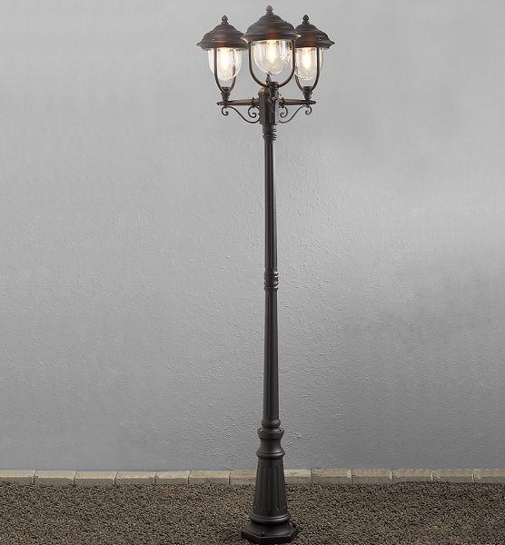 Stolplykta Parma 3-arm svart-13155