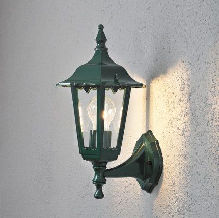 Vägglykta Firenze upp E27 grön-13183