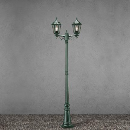 Stolplykta Firenze 2-arm ink stolpe grön-13199