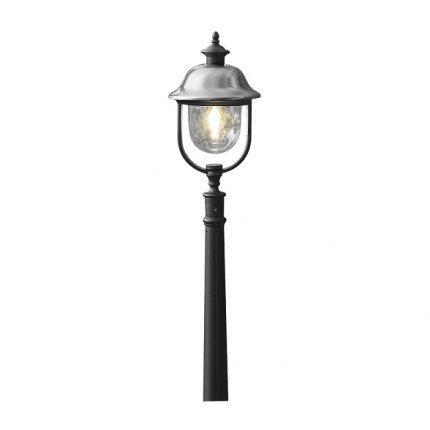 Trädgårdslykta Parma ink stolpe E27 rostfri/svart-0