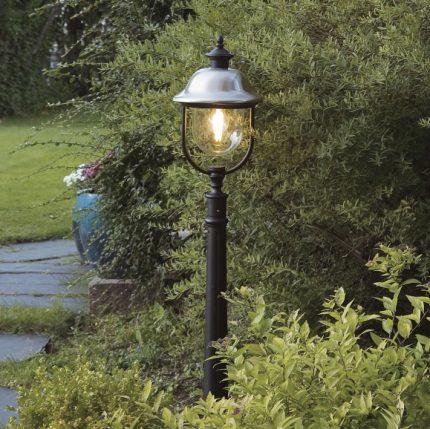 Trädgårdslykta Parma ink stolpe E27 rostfri/svart-13249
