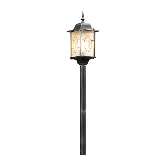 Trädgårdslykta Milano ink stolpe E27 svart/silver-0