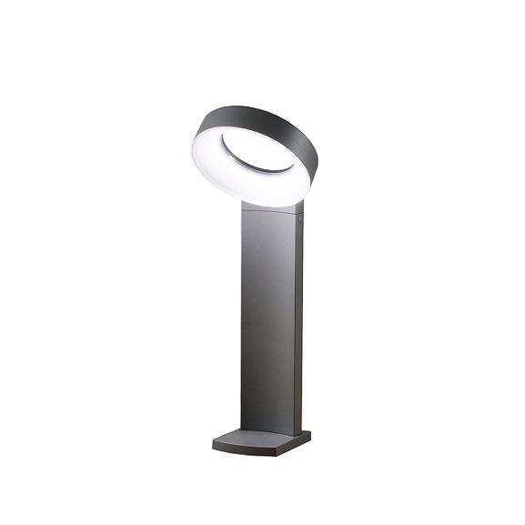 Trädgårdslykta Asti ink stolpe LED grå-0