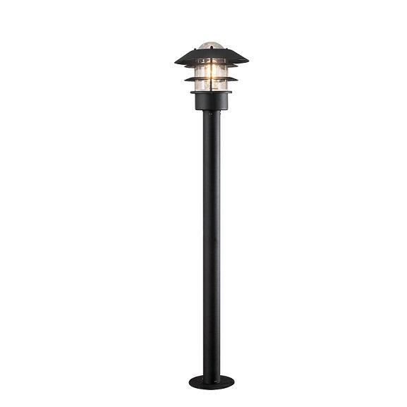 Pollare Modena svart E27 ink stolpe-0