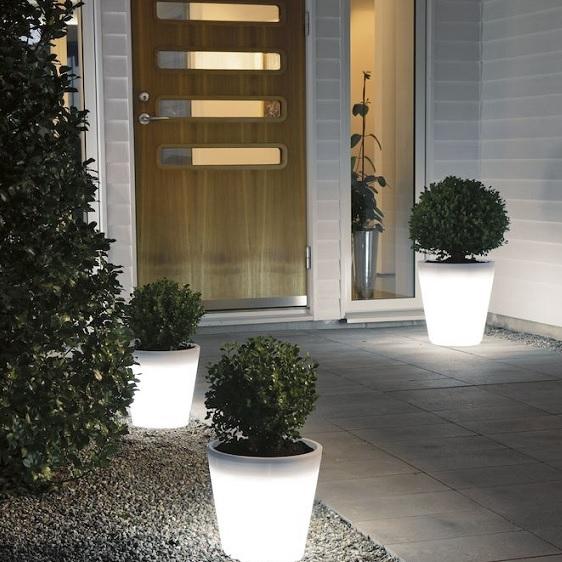 Dekorationsbelysning Assisi blomkruka liten LED-15508