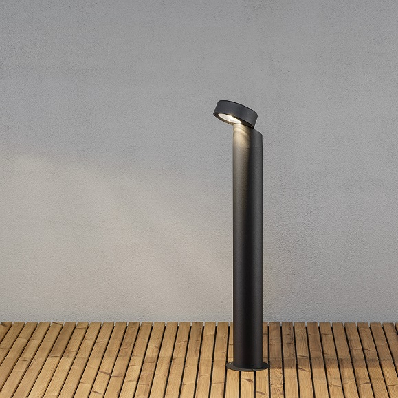 Trädgårdsstolpe Vicenza LED svart-0