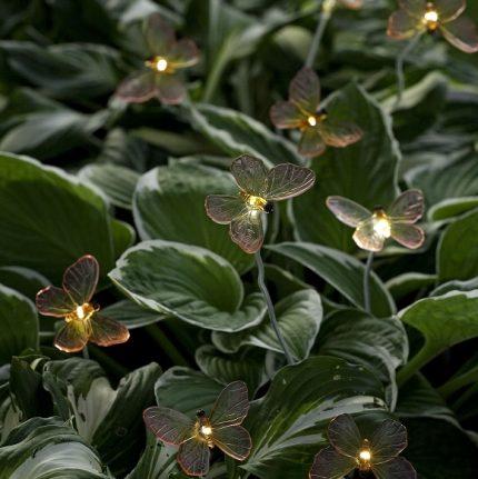 Solcellslampor Assisi LED fjäril-13623