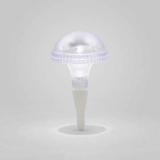 Solcellslampa svamp Assisi LED klar-13780