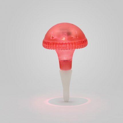 Solcellslampa svamp Assisi LED röd-13788