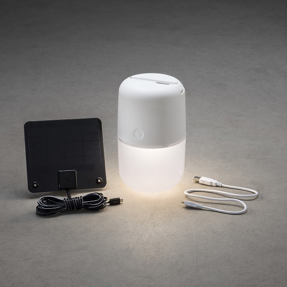 Solcell Assisi /USB LED vit-14060