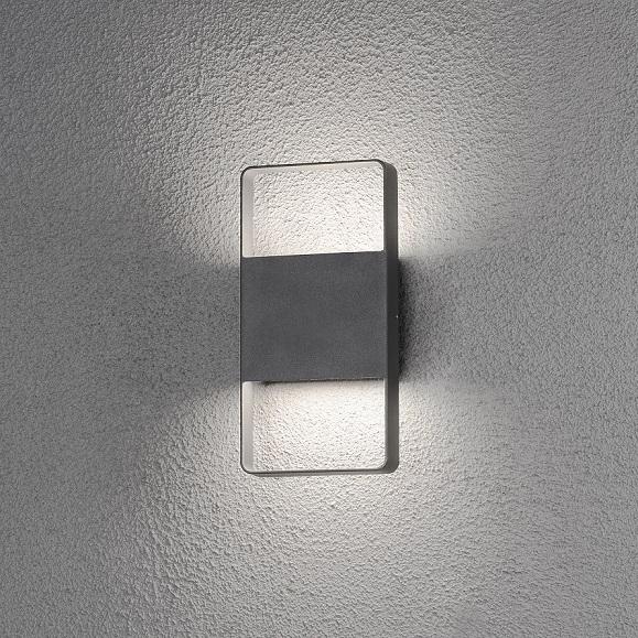 Vägglykta Matera 2x6W LED mörkgrå-14105