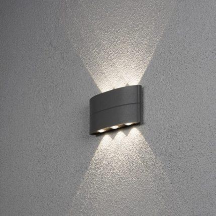 Vägglykta Chieri 6x1W LED mörkgrå-14113