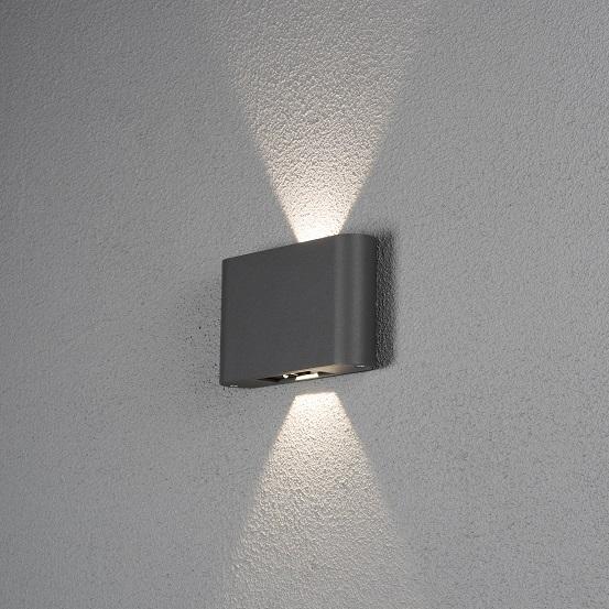 Vägglykta Chieri 2x6W LED mörkgrå-0