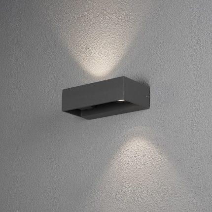 Vägglykta Monza 2x6W LED mörkgrå-14130