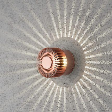 Vägglykta Monza 3W LED koppar-14139