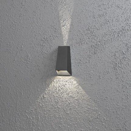 Vägglykta Imola mörkgrå LED-14202