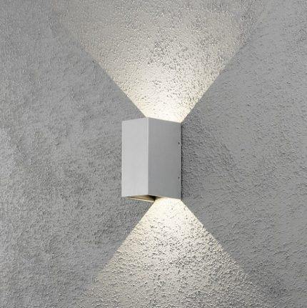 Vägglykta Cremona grå LED-12285