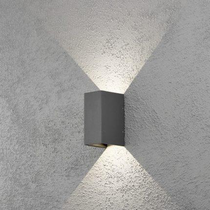 Vägglykta Cremona mörkgrå LED-12289