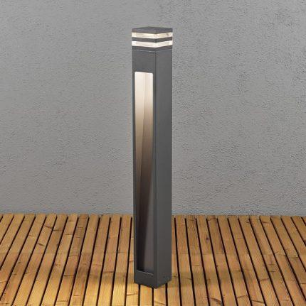 Trädgårdsstolpe Massa 8W LED mörkgrå-14332