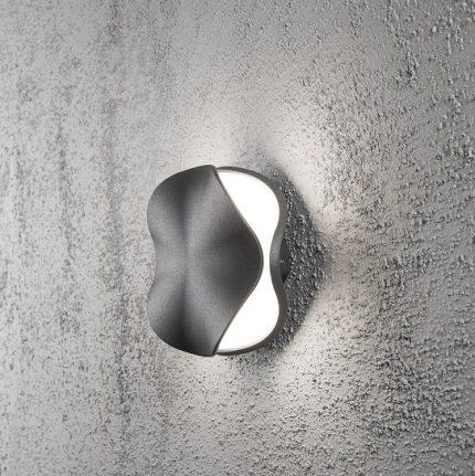Vägglykta Matera 4W LED mörkgrå-14336
