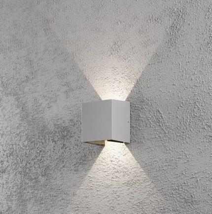Vägglykta Cremona grå LED-12300