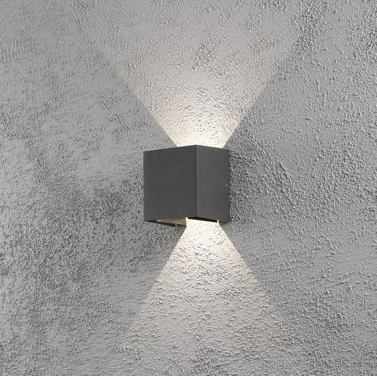 Vägglykta Cremona mörkgrå LED-12304