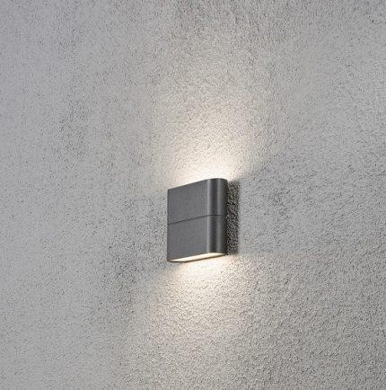 Vägglykta Chieri LED mörkgrå-12336